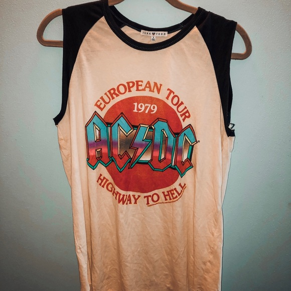 Junk Food Clothing Tops - Junk Food Clothing AC/DC graphic tank!
